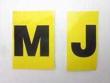 """Corvette New Valve Cover Engine Code """"MJ"""" Letter Decal Sticker 1969"""