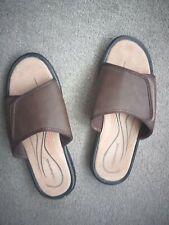 Mens Brown Sliders Size 10