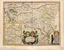 Ruhrgebiet - Comitatus Marchia Et Ravensberg - Kupfer-Karte von Blaeu um 1640