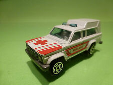 MAJORETTE 269 JEEP CHEROKEE CHIEF - AMBULANCE 1:64 -  VERY GOOD
