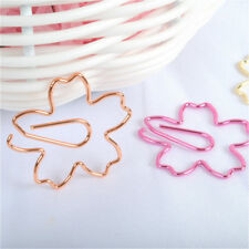 5Pcs Planner Paper Clip Sakura Metal Material for Book Stationery Bookmarks
