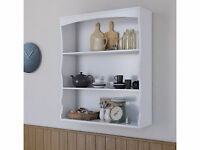 Polar White Wall Mounted Shelves Painted White 3 Book Shelf Kids Bedroom Kitchen