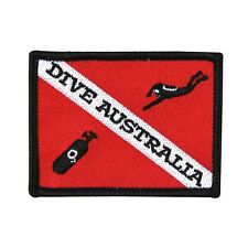 "Scuba Souvenir ""Dive Australia"" Patch Underwater Reef Diving Iron-On Applique"