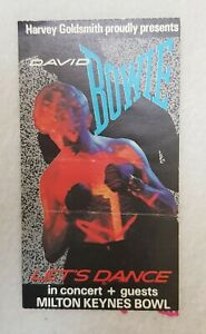 David Bowie Original Used Concert Ticket - Serious Moonlight Tour - 03/07/1983