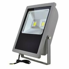 LED Outdoor Security Floodlight Fixture 150-Watt, White, 3710WH - NEW