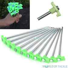 Glow In Dark Steel Tent Rock Pegs x10 Camping Bivvy Awning Stakes Hook