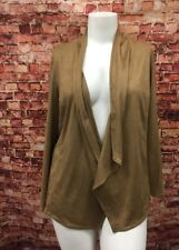 JM Collection Willow Brown Femme Feel Faux Suede Jacket Size 1X