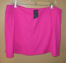 New listing LANDS' END Women's Brief Lined Pink Berry Swimsuit Skirt Swimwear 18 NWT