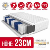 Matratze 90x200 Taschenfederkern 7 Zonen H3 METIS MAX Höhe 23 cm Kaltschaum Bett