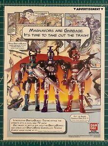 Rare Beetleborgs Action Figure Advertisement Bandai 1996 metallic blue red green