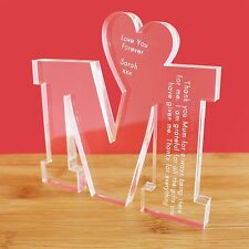 Personalised Big M for Mum Message Ornament Keepsake Mothers Day Birthday Gift