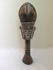 """PROUD AFRICAN WOMAN CARVING Handcrafted Ndebele / Zulu WOOD STATUE - 18"""""""