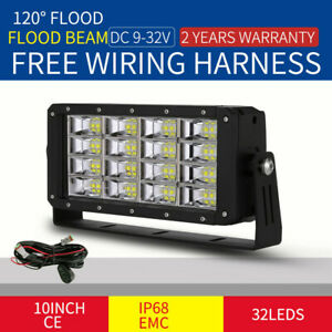NEW Cree 10inch 320W LED Work Lights Rectangle Square Truck SUV Offroad 4X4 UTE