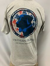 "New Southern Proper Short Sleeve ""Fireworks"" T-Shirt, Gray, Small, XS, S XL, 2XL"