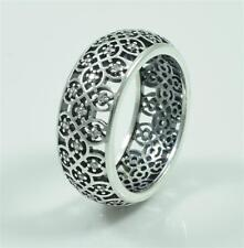 Authentic Genuine Pandora Silver Intricate Lattice Ring 190955CZ-54