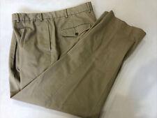 L. L. Bean Men's Beige Solid Cotton Casual Pants 41X30 $89