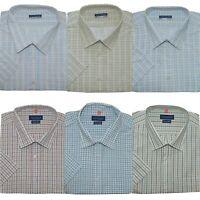 Mens Big King Size Plain Tom Hagan Smart Formal Short Sleeve Shirt 3XL 4XL 5XL