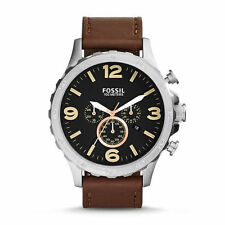 Fossil Genuine Leather Strap Analog Wristwatches