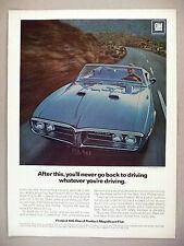 Firebird 400 Convertible PRINT AD - 1967 ~ Pontiac