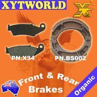 FRONT REAR Brake Pads Shoes for HONDA CTX 200/CTX 200 A Bushlander 2004 2005