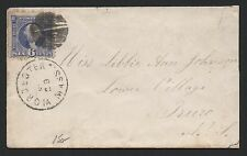 US Scott #115 on Cover, Worcester MA to Truco Nova Scotia, Correct Backstamps
