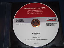 Case Twin Row 825a3pm Planter Iv Monitor Operation Amp Maintenance Book Manual Cd