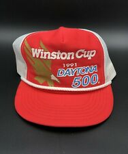 Vintage 1991 Daytona 500 Winston Cup Trucker Mesh Rope Race Hat NASCAR Cap