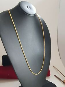 Real looking 22 ct gold plated Chain - necklace party wear kapa Indian jewelry
