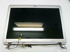 "SONY VGN-CR220E 14.1"" WXGA GLOSSY LCD SCREEN Complete Assembly Hinges  OEM"