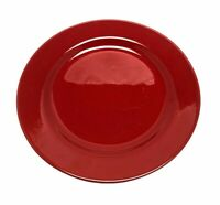 "Pier 1 Imports Red Earthenware Dinner Plate 10 1/2"" Spain"