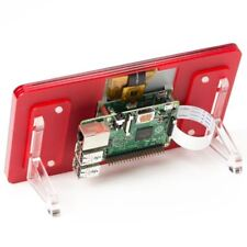 "Official Raspberry Pi 7"" Touchscreen Display With Coupe (Red) Stand"