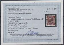 Bund - Posthorn Nr. 131 I gestempelt - Befund Schlegel - ansehen!!!