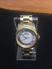 invicta womens watch Angel Two Tone Face Silver/ivory, Roman Number, Date Gold B