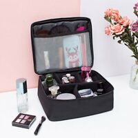 Professional Large Makeup Bag Cosmetic Case Storage Handle Organizer Travel Kit&