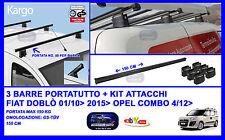 Barre Portatutto-Portapacchi- Portabagagli  150 Cm - Fiat Doblò Cargo 01/10>