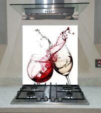 Splashback Toughened Glass Unique Kitchen Red and White Wine Splash  Any Sizes