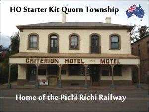 HO SCALE AUSTRALIAN MODEL RAILWAY STARTER KIT – QUORN TOWNSHIP #1