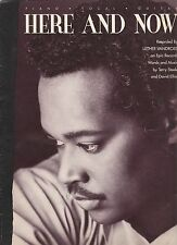 Luther Vandross Here And Now    US Sheet Music