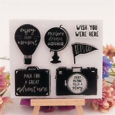 Travel rubber Clear Stamp Cling Seal Scrapbooking Diary Card DIY Decor Craft HT