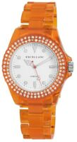 Excellanc Damenuhr Weiß Orange Kunststoff Strass Analog Quarz X225184100001