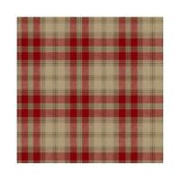 Ronald Redding Red and Brown Regent's Glen Plaid Unpasted Wallpaper ML1230