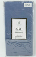 Wamsutta 400 Thread Count 100% Cotton King Pillowcases in Blue Jean, Set of 2
