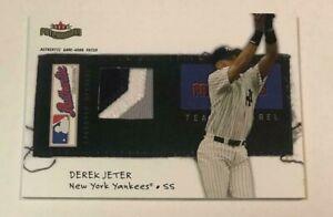 2004 Fleer Patchworks DEREK JETER 062/150 GAME USED WORN 3 COLOR PATCH CARD RARE