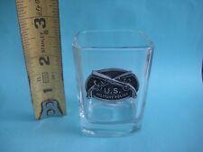 Vintage ***   MILITARY POLICE   *** Square Shot Glass USA