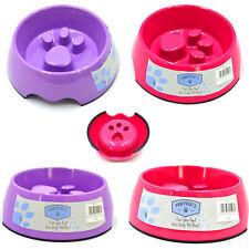 Alimentatore Pet-Cane/Cucciolo/Cat Slow Feed anti GULP in plastica grande cibo, acqua Bowl/semisferasup