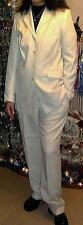 Tailleur ensemble veste/pantalon  colorie vanille. Taille 48/50 (article neuf).