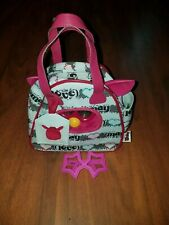 Furby boom 2012 Hasbro all pink with new bowling bag carrier and sunglasses
