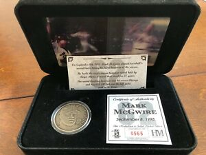 Limited Edition Mark McGwire 62 Home Runs Highland Mint Commemorative Coin!