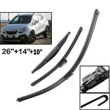 Front Rear Set Windshield Wiper Blades Kit Fit For Opel Mokka Chevrolet Trax 12