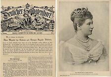 Ihre Majestät Kaiserin Auguste Viktoria * Historical Memorabilia 1898